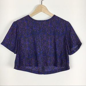 UO Silence and Noise Purple & Pink Crop Top XS